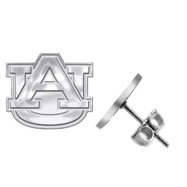 Auburn Tigers Silver Stud Earrings - DealsAmazingDeals.com