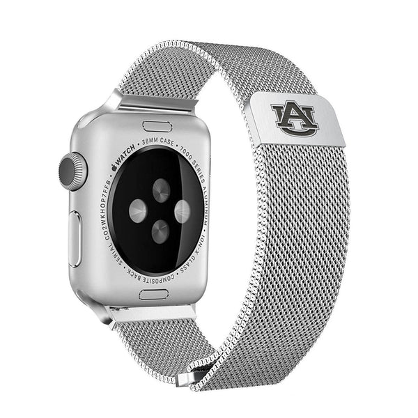 Auburn Tigers Stainless Steel Replacement Apple Watch Band - DealsAmazingDeals.com
