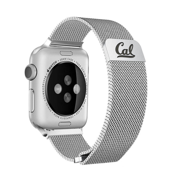 California Golden Bears Stainless Steel Replacement Apple Watch Band - DealsAmazingDeals.com