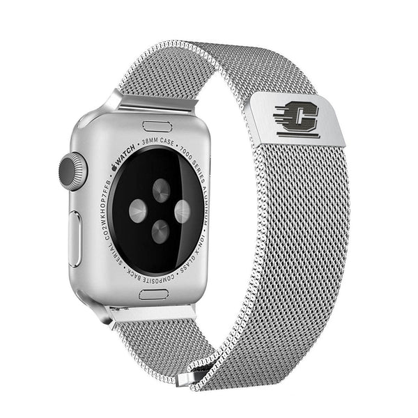 Central Michigan Chippewas Stainless Steel Replacement Apple Watch Band - DealsAmazingDeals.com