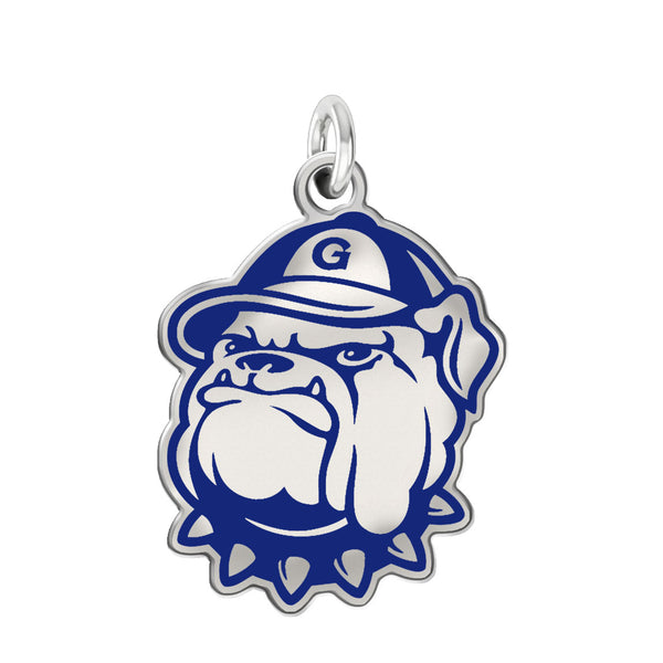 Georgetown Hoyas Sterling Silver Logo Charm