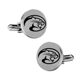 Houston Cougars Stainless Steel Cufflinks with Round Top