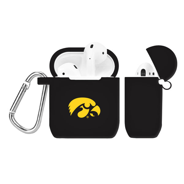 Iowa Hawkeyes Silicone Case Cover for Apple AirPod Case - Black