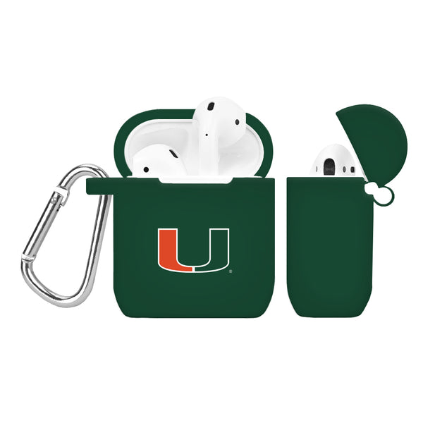 Miami Hurricanes Silicone Case Cover for Apple AirPod Case - Green