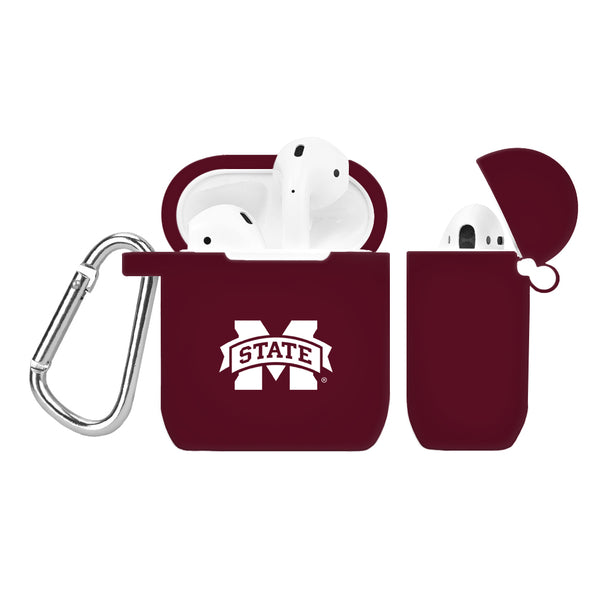 Mississippi State Bulldogs Silicone Case Cover for Apple AirPod Case - DealsAmazingDeals.com
