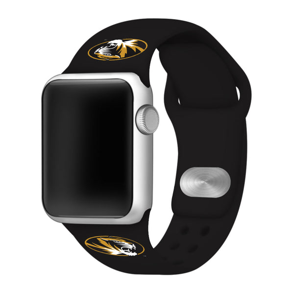 Missouri Tigers Silicone Sport Band for Apple Watch - DealsAmazingDeals.com