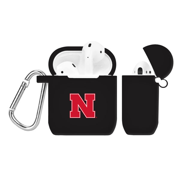 Nebraska Huskers Silicone Case Cover for Apple AirPod Case - Black