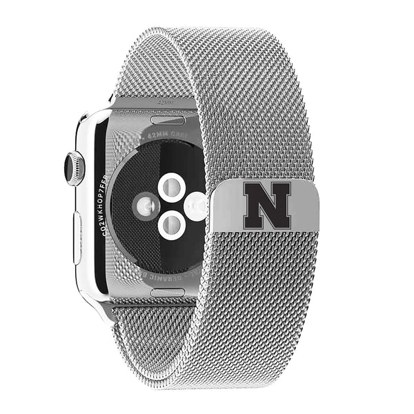 Nebraska Cornhuskers Stainless Steel Replacement Apple Watch Band