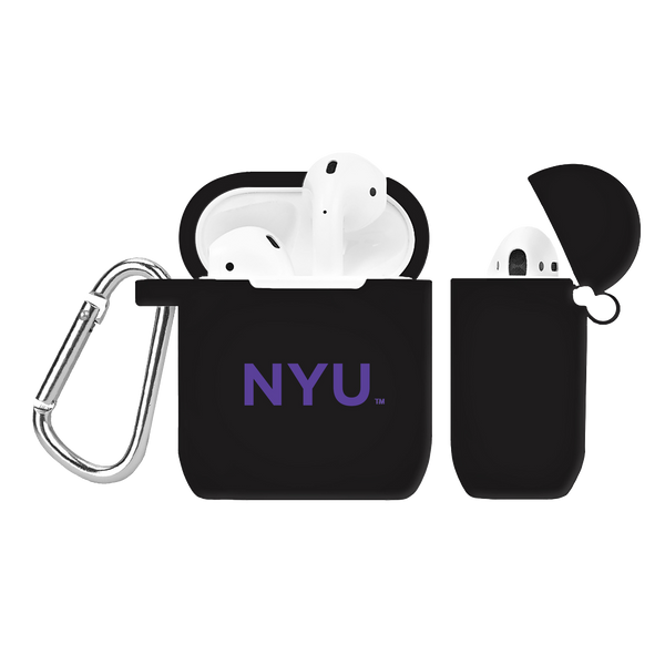 New York University Violets Silicone AirPod Case