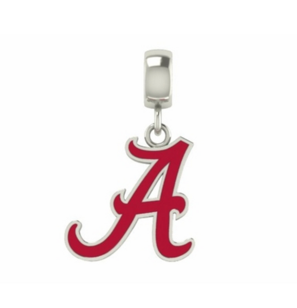 "Alabama ""A"" Enameled Drop Charm - DealsAmazingDeals.com"
