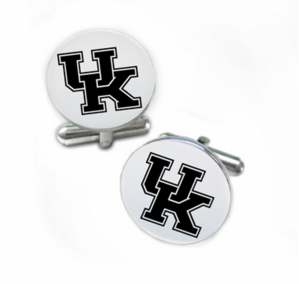 Kentucky Wildcats Stainless Steel Cufflinks with Round Top