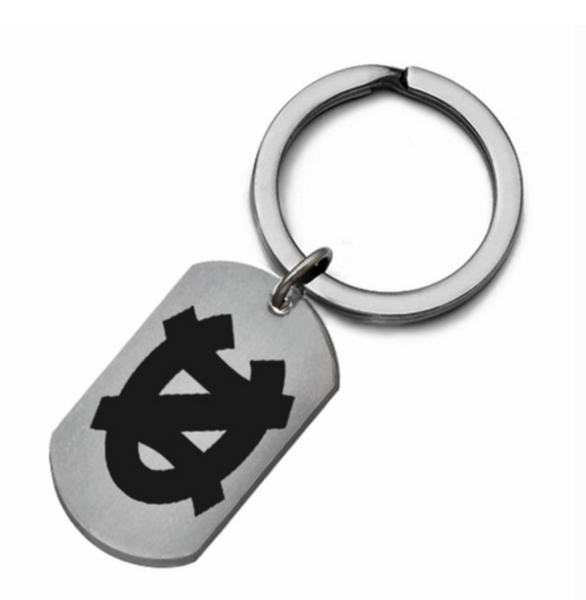 North Carolina Tar Heels Stainless Steel Key Ring