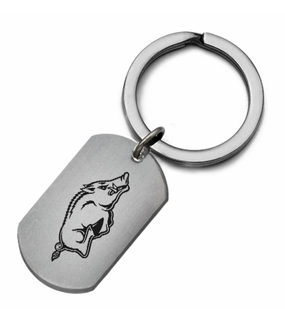 Arkansas Razorbacks Stainless Steel Key Ring - DealsAmazingDeals.com