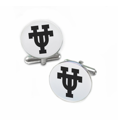 Texas Longhorns Stainless Steel Cufflinks with Round Top