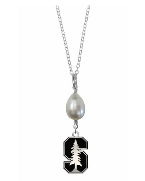 Stanford Cardinal Freshwater Pearl Drop Necklace