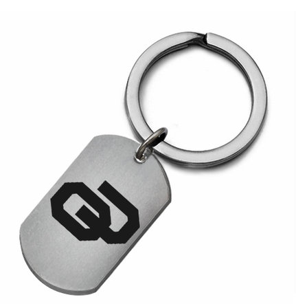 Oklahoma Sooners Stainless Steel Key Ring