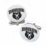 Baylor Bears Stainless Steel Cufflinks with Round Top - DealsAmazingDeals.com