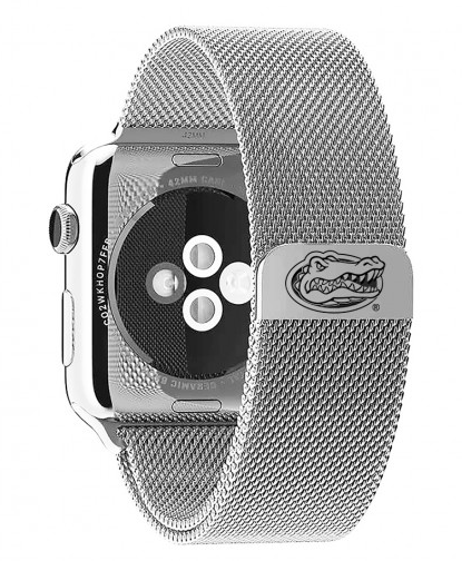 Florida Gators Stainless Steel Replacement Apple Watch Band - DealsAmazingDeals.com