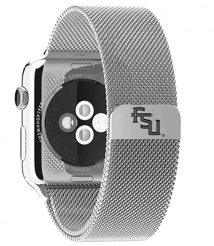 Florida State Seminoles Stainless Steel Replacement Apple Watch Band - DealsAmazingDeals.com