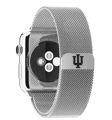 Indiana Hoosiers Stainless Steel Replacement Apple Watch Band - DealsAmazingDeals.com