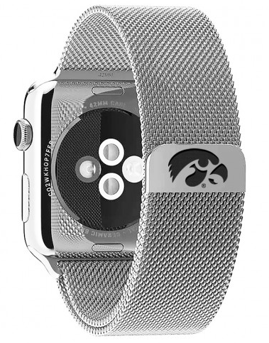 Iowa Hawkeyes Stainless Steel Replacement Apple Watch Band