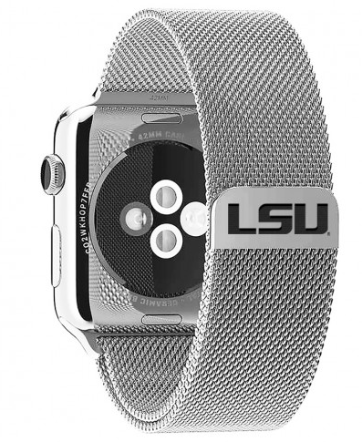 LSU Tigers Stainless Steel Replacement Apple Watch Band