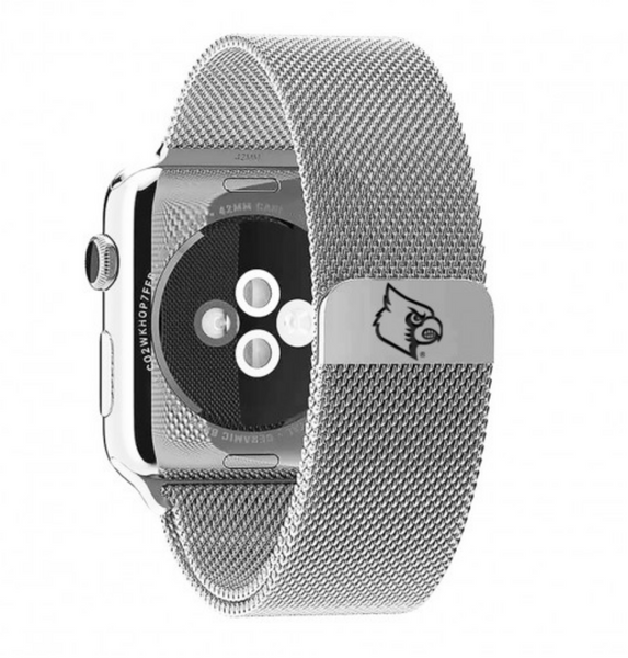 Louisville Cardinals Stainless Steel Replacement Apple Watch Band