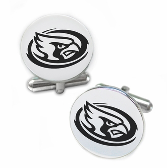 Iowa State Cyclones Stainless Steel Cufflinks with Round Top