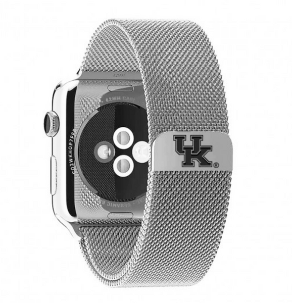 University of Kentucky Wildcats Stainless Steel Replacement Apple Watch Band