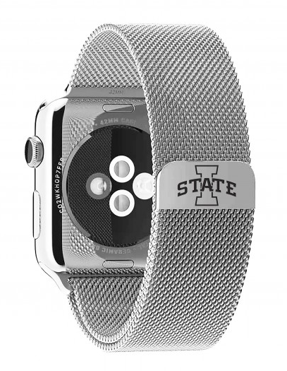 Iowa State Cyclones Stainless Steel Replacement Apple Watch Band - DealsAmazingDeals.com