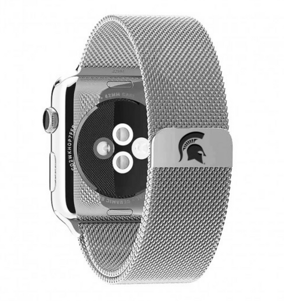 Michigan State Spartans Stainless Steel Replacement Apple Watch Band - DealsAmazingDeals.com