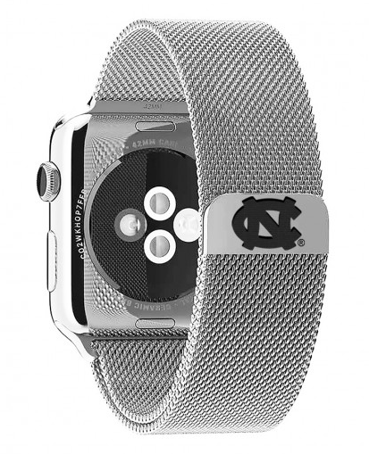 North Carolina Tar Heels Stainless Steel Replacement Apple Watch Band - DealsAmazingDeals.com