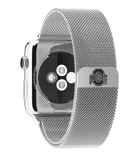 Ohio State Buckeyes Stainless Steel Replacement Apple Watch Band - DealsAmazingDeals.com