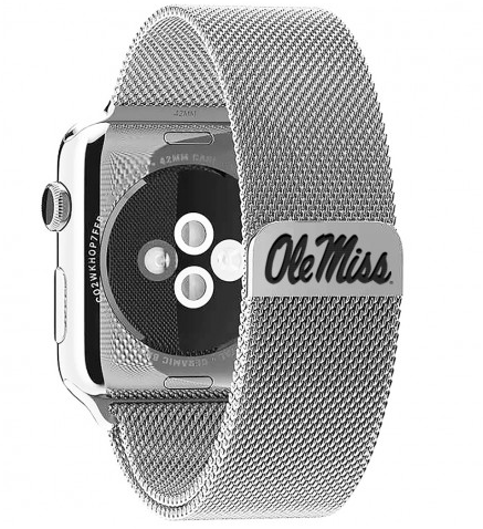 Ole Miss Stainless Steel Replacement Apple Watch Band