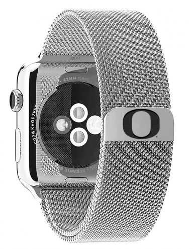 Oregon Ducks Stainless Steel Replacement Apple Watch Band - DealsAmazingDeals.com