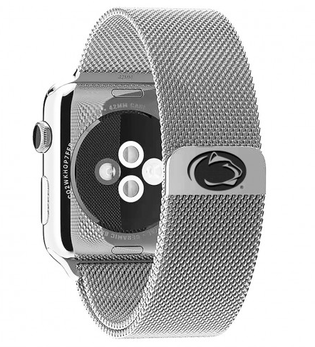 Penn State Nittany Lions Stainless Steel Replacement Apple Watch Band - DealsAmazingDeals.com