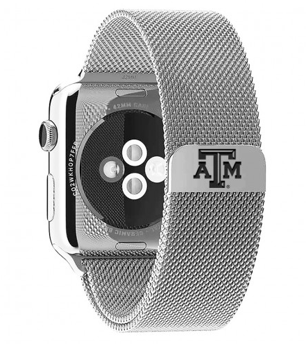 Texas A&M Stainless Steel Replacement Apple Watch Band - DealsAmazingDeals.com