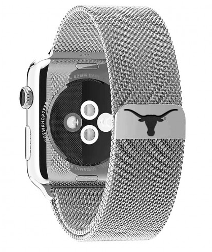 Texas Longhorns Stainless Steel Replacement Apple Watch Band