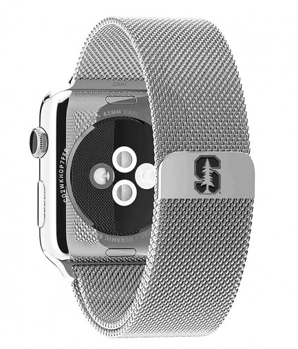 Stanford Cardinal Stainless Steel Replacement Apple Watch Band