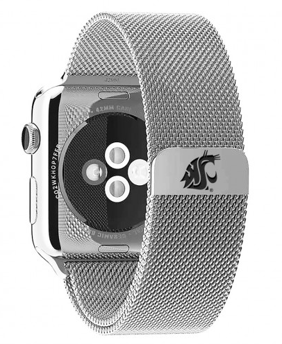 Washington State Cougars Stainless Steel Replacement Apple Watch Band