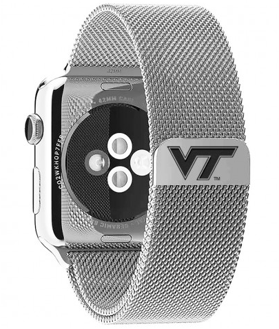 Virginia Tech Hokies Stainless Steel Replacement Apple Watch Band - DealsAmazingDeals.com