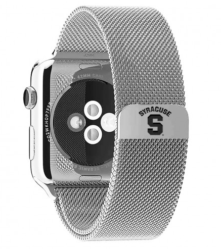 Syracuse Orange Stainless Steel Replacement Apple Watch Band - DealsAmazingDeals.com