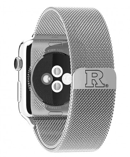 Rutgers Scarlet Knights Stainless Steel Replacement Apple Watch Band - DealsAmazingDeals.com