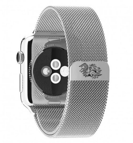 South Carolina Gamecocks Stainless Steel Replacement Apple Watch Band - DealsAmazingDeals.com