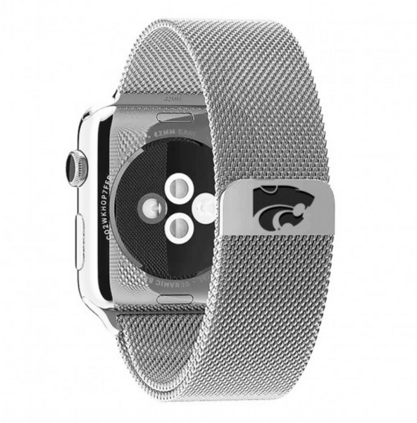 Kansas State Wildcats Stainless Steel Replacement Apple Watch Band