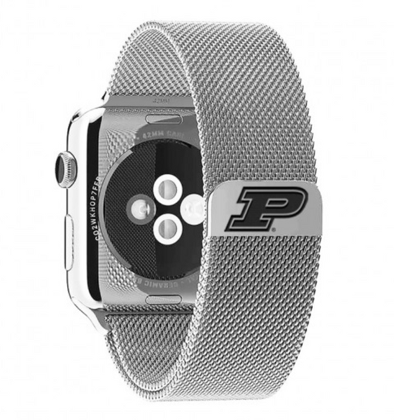 Purdue Boilermakers Stainless Steel Replacement Apple Watch Band - DealsAmazingDeals.com