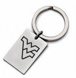 West Virginia Mountaineers Stainless Steel Key Ring