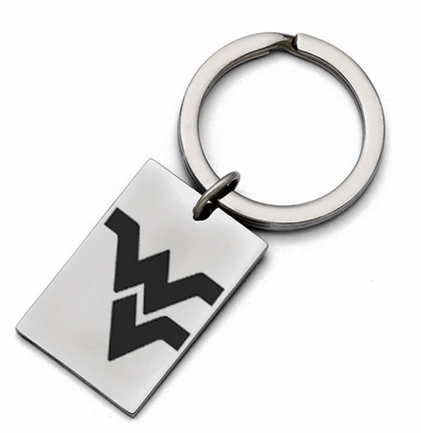 West Virginia Mountaineers Stainless Steel Key Ring - DealsAmazingDeals.com