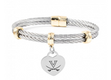 Virginia Cavaliers Charm Bracelet Stainless Steel Magnetic Clasp Bangle