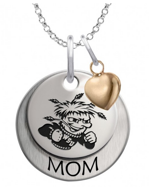 Wichita State Shockers MOM Necklace with Heart Accent